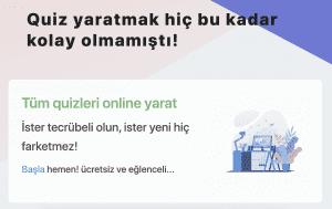 quiz maker, online quiz, sınav